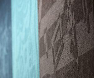 Magic Shadow Effect woven on  ALPHA carpet weaving machine