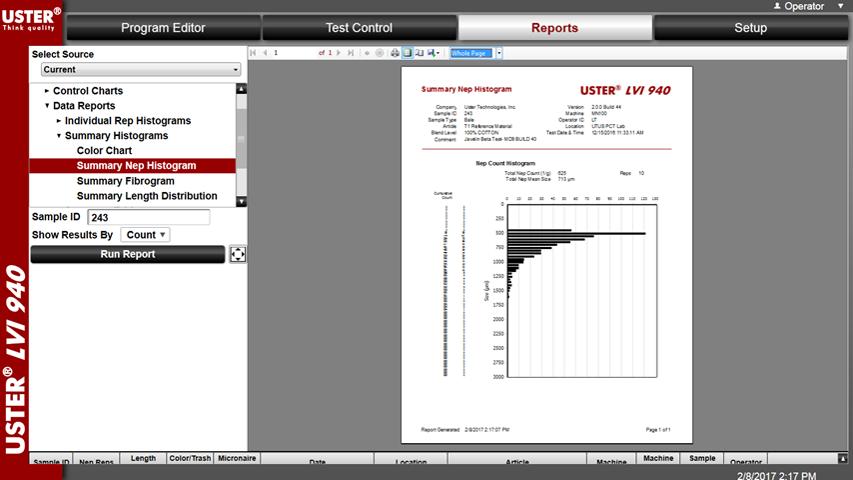lvi-940-reports-screen