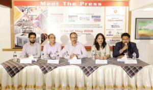 In the picture are (from left) Mr. Md. Althaf Uddin, Sr. Joint Secretary (Admin) - BKMEA Chittagong, Mr. Fazle Karim Liton, Managing Director -  Jack Machinery Import & Export, Mr. Manzurul Ahsan Chowdhury, Executive Director - Well Group, Ms. Fatematuj Johra, Director Marketing – Redcarpet365 Ltd and Mr. Ahmed Imtiaz, CEO - Redcarpet365 Ltd.
