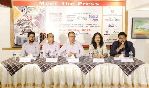 In the picture are (from left) Mr. Md. Althaf Uddin, Sr. Joint Secretary (Admin) - BKMEA Chittagong, Mr. Fazle Karim Liton, Managing Director -  Jack Machinery Import & Export, Mr. Manzurul Ahsan Chowdhury, Executive Director - Well Group, Ms. Fatematuj Johra, Director Marketing – Redcarpet365 Ltd and Mr. Ahmed Imtiaz, CEO - Redcarpet365 Ltd.