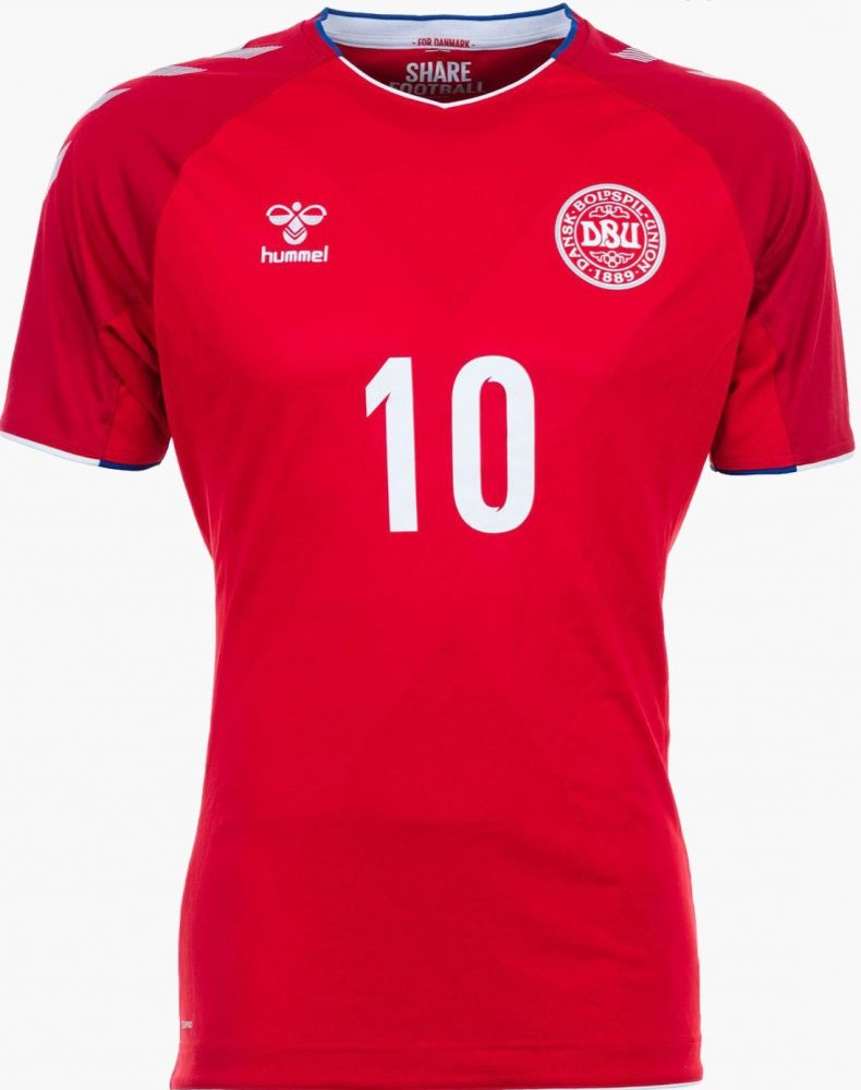 Hummel and the Dansk Boldspil-Union (DBU) have launched the Demmark 2018  FIFA World Cup Russia home and away kits. Both Denmark 2018 World Cup kits  use a ... 7624b309a