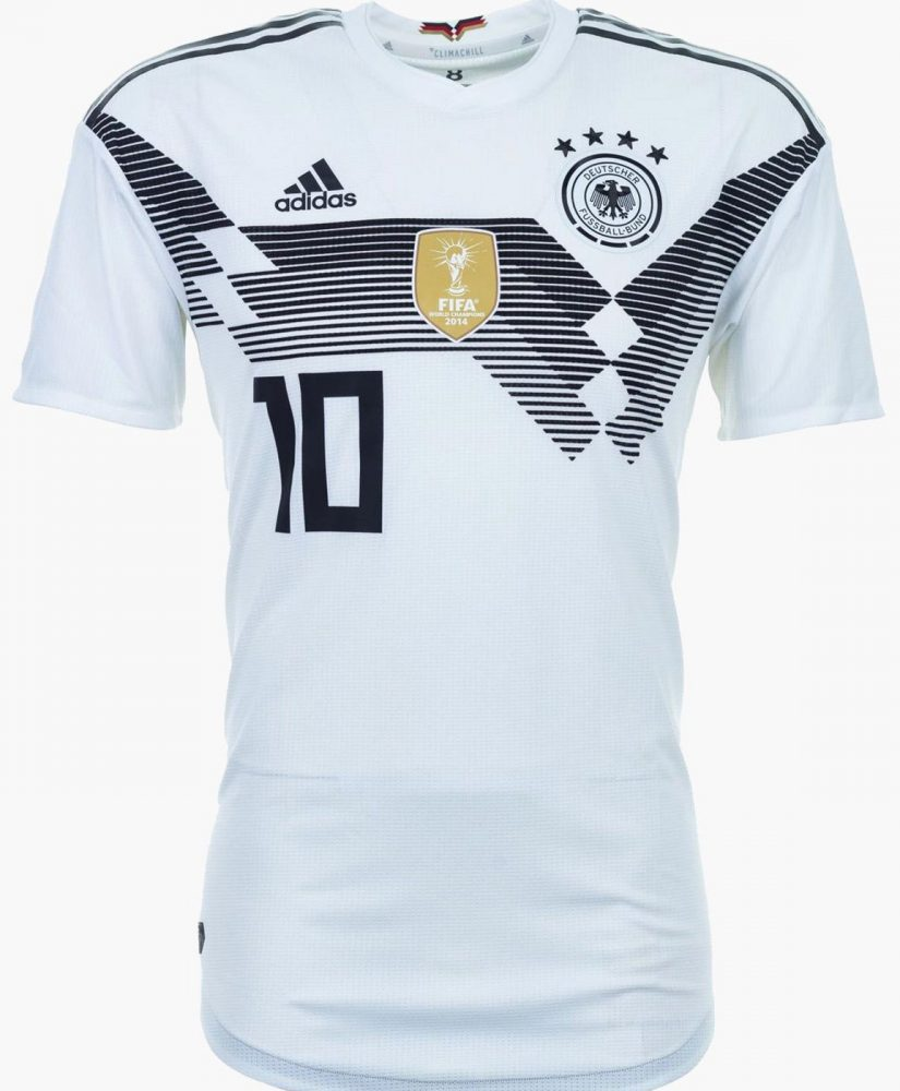 Germany s 2018 World Cup adidas away kit is a modern interpretation of the  famous green 1990 World Cup away jersey worn in the semi-final versus  England. 13416b4a4