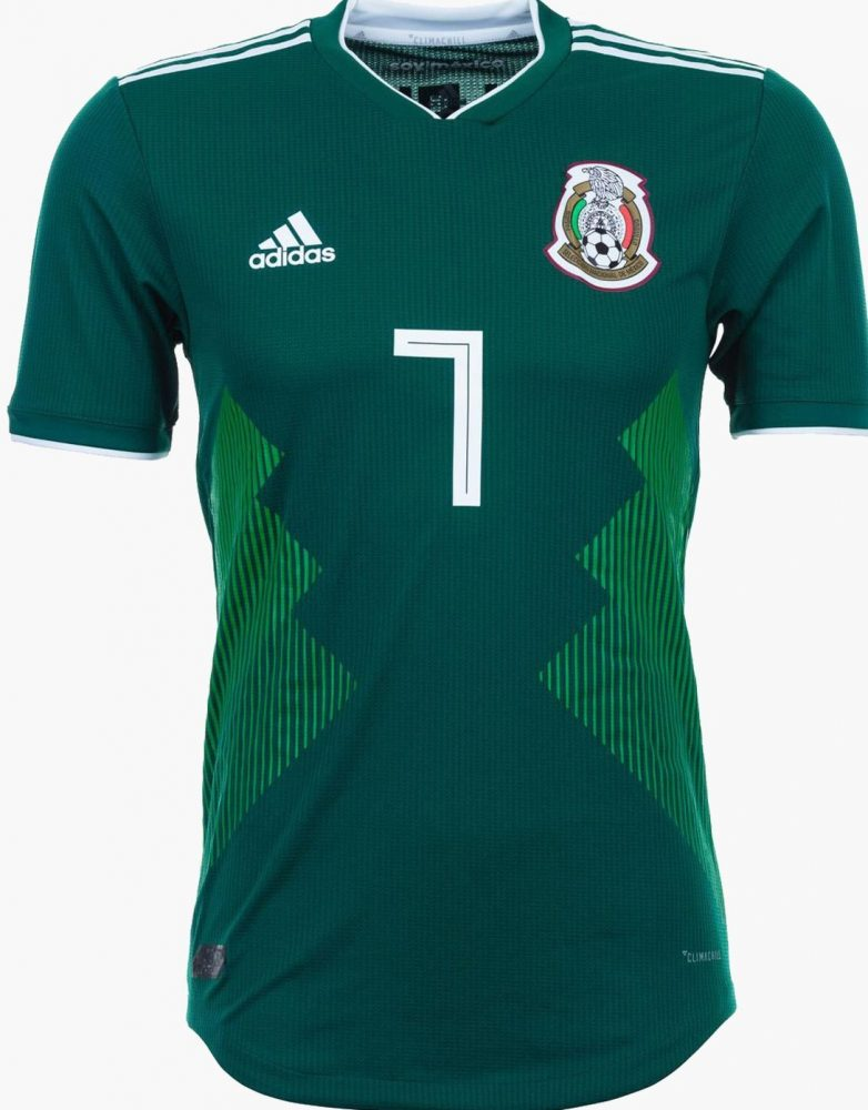 The away jersey that Mexico will wear at the 2018 FIFA World Cup is a  simple and sleek design. The shirt is matched with dark red shorts and white  socks ... 57f0445ea