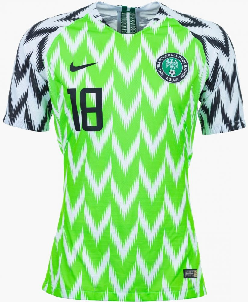 The basic design is inspired by different Super Eagles uniforms from past  tournaments b9b310c8f