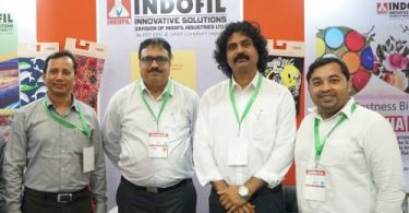 Photo: (from left) Mr. Paban Kumar Deka, Product Manager- Textile;  Mr. Vikram Nair, Vertical Head-Textiles; Mr. Santosh John, Sales Manager- Textiles; Mr. Md. Alim Al Raji, Manager (Bangladesh), Indofil Industries Limited.