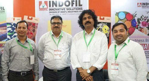 Photo: (from left) Mr. Paban Kumar Deka, Product Manager- Textile; Mr. Vikram Nair, Vertical Head-Textiles; Mr. Santosh John, Sales Manager- Textiles; Mr. Md. Alim Al Raji, Manager (Bangladesh), Indofil Industries Limited.