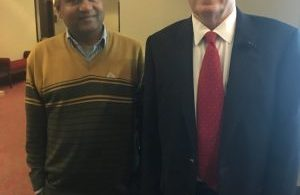 from left Seshadri Ramkumar with Nobel laureate Edward Prescott