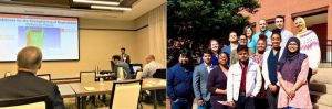 Left: Invited speaker at ISIFM Conference, Right: Ford Innovation Team (FIT); Manik Chandra Biswas (2nd from left 1st row); Dr. Ericka Ford