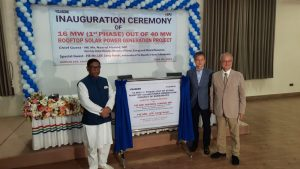 inauguration ceremony of Rooftop Solar Power Generation Project