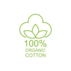 100% organic cotton icon line style. Vector
