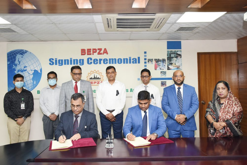 Bangladeshi company Label Makers Ltd. Mr. Md. Shahriar has signed the agreement
